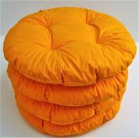 Sedák prošívaný kulatý průměr 40 cm (oranžový)