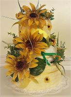 Textilní dort třípatrový (slunečnice)