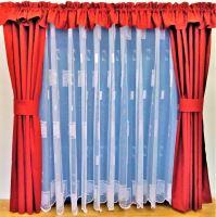 Záclona kusová - Kopretinka 160x300 cm  (bílá)