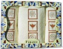 Dárkově balené vyšívané ručníky s osuškou ( 2-smetanová)