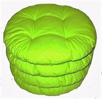 Sedák prošívaný kulatý průměr 40cm (žlutozelený)