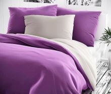 Bavlněný povlak na polštář 70x90cm fialové/šedé