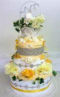 Textilní dort třípatrový