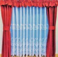 Záclona kusová - Zvonky 170x300 cm  (bílá)