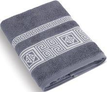 Froté ručník 50x100 cm Řecká kolekce - šedomodrá