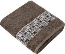 Froté ručník Kameny  50x100 cm hnědá
