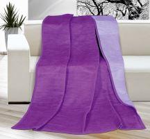 Deka KIRA PLUS 150x200 cm,fialová/světle fialová