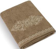 Froté ručník Béžová řada 50x100 cm (hnědý ornament)