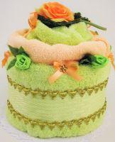 Textilní dort růže