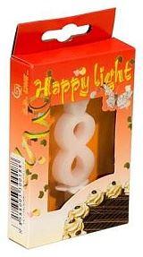 Svíčka dortová -8- krabička 70mm (7913)