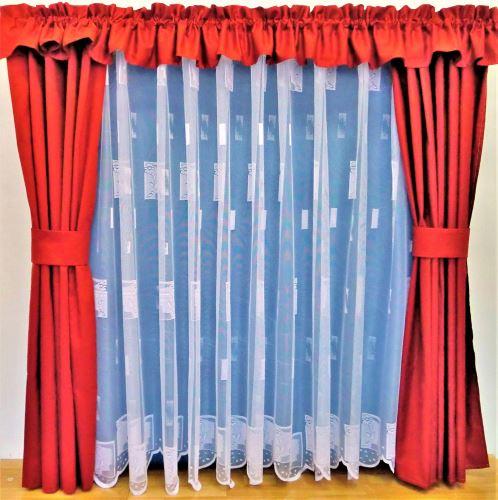 Záclona kusová - Kopretinka 150x300 cm  (bílá)