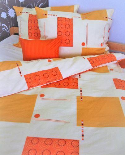 Bavlněné povlečení prodloužené  70x90 + 140x220 cm (R512)