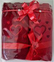 Veratex Froté ručníky  set  srdce + srdíčka 2 x 50x100 20 barev