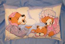 Dětský polštář 40x60 (modrý medvídek)