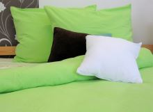 Flanelové povlečení prodloužené 70x90, 140x220 (žluto.zelené)