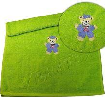 Froté osuška s výšivkou medvídka 70x140 cm (20 barev)