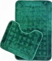 Koupelnová předložka 2-dílný set (zelená kostka)