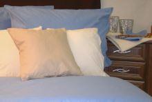 Bavlněný povlak na polštář 70x90cm světle modrý