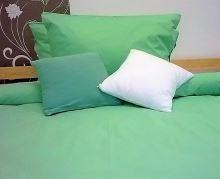 Bavlněné povlečení zelené 70x90 140x200cm