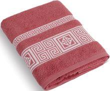 Froté ručník 50x100 cm Řecká kolekce - terrakota