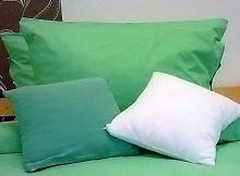 Bavlněný povlak na polštář 70x90cm zelená