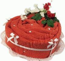 Textilní dort Srdce jednopatrový-textilní dort