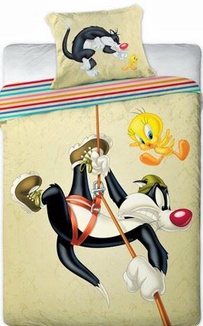 Povlečení Looney Tunes 140x200 (béžové)