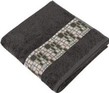 Froté osuška Kameny  70x140 cm šedá