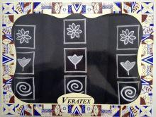 Dárkově balené vyšívané ručníky s osuškou (35-černá)