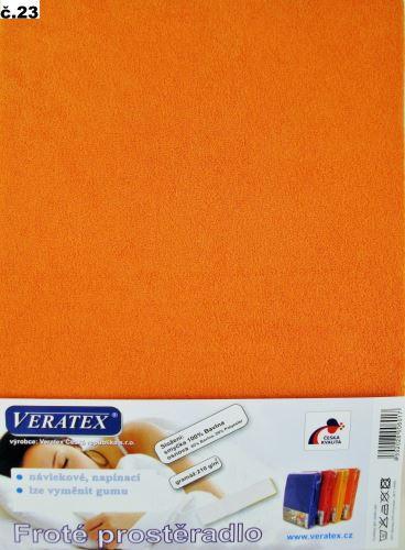 Froté prostěradlo 140x200 cm (č.23-oranžová)