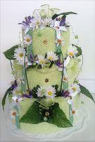 Veratex Textilní dort třípatrový - louka