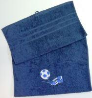 Ručník fotbal 50x100 tmavě modrá