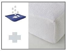 Froté prostěradlo - Nepropustné PRODLOUŽENÉ 90x220 (bílá)