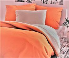 Bavlněné povlečení oranžovo/bílé 70x90 140x200cm