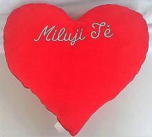 Veratex Červené srdce s výšivkou Miluji tě