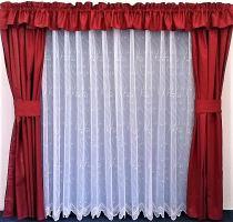 Záclona kusová - Paví oka 130x300 cm  (bílá)