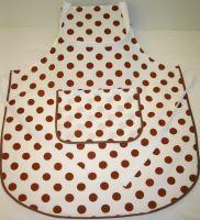 Zástěra kuchyňská  (hnědý puntík) 70x80cm
