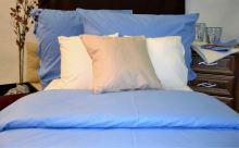 Povlak na polštářek flanel 40x40cm-zip modrý
