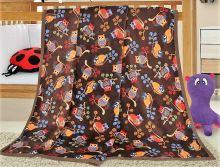 Dětská deka z příjemného materiálu Korall mikro 100x155 cm sovičky