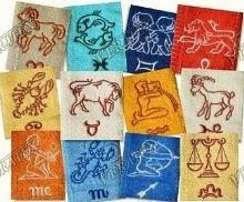 Froté ručník se znamením - ryby  50x100 (10-sv.modrá)