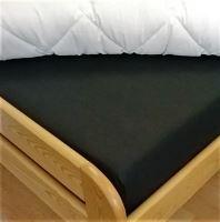 Plátěné prostěradlo s gumou 110x200 cm (černá)