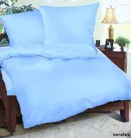 Krepové povlečení prodloužené  70x90 + 140x220 cm (sv.modrá)