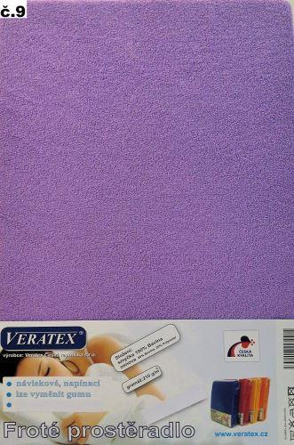 Froté prostěradlo 100x200 cm (č. 9-tm.fialová)