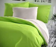 Bavlněný povlak na polštář 70x90cm žlutozelené/bílé