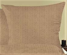 Povlak na polštářek krep 35x45cm-zip (kávově)