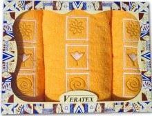 Dárkově balené vyšívané ručníky s osuškou ( 5-sytě_žlutá)