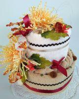Veratex Textilní dort chryzantémy dvoupatrový