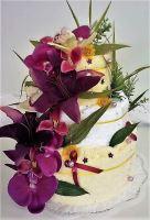 Veratex Textilní dort třípatrový - květ zvonky