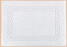 Froté předložka - Hotel 50x70cm 750g  90°C bílá vzor copánku