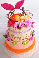 Veratex Textilní dort pro dívky se jménem/přezdívkou